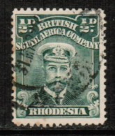 RHODESIA  Scott # 119 VF USED - Great Britain (former Colonies & Protectorates)