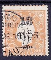 MACAU - 1902 - D. LUIS I - AFINSA Nº 109 DENT 12 1/2 - USADO - Macao