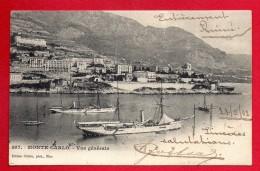 Monaco. Monte-Carlo. Vue Générale. 1902 (affranchissement 5 Timbres) - Monte-Carlo