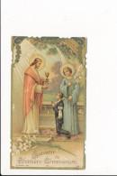 Image Religieuse De Communion ( Bonde ) église De La Sainte Famille Du Pré Saint Gervais ( 93 ) ( Recto Verso ) - Santini