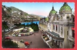 Monaco. Monte-Carlo. Le Casino Et Le Café De Paris. Flamme Radio Monte-Carlo. 1957 - Cafes & Restaurants