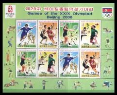 North Korea 2008 Mih. 5311/14 Olympic Games In Beijung. Football. Basketball. Tennis. Table Tennis (M/S) MNH ** - Korea, North