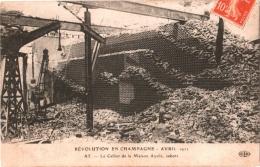 CPA 51 (Marne) Ay - Révolution En Champagne, Le Cellier De La Maison Ayola Saboté TBE 12 Avril 1911 - Ay En Champagne