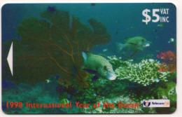 FIDJI Ref MVCARDS FIJ-121 GORGONIAN FAN 5$ Date 1998 - Fidji