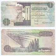 Libia - Libya 1/2 Dinar 1991 Pick 58.c Ref 948 - Libia