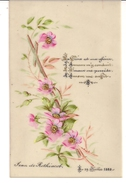 Document Historique Généalogie Jean De Rothiacob Faire Part De Naissance 19 Juillet 1888 - Birth & Baptism