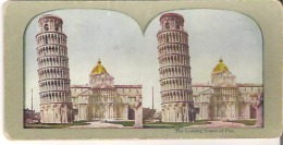 The Leaning Tower Of Pisa - Stereoscope Cards