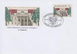 Enveloppe 1998 N° 2782 Avec FDC(Brussel 1040 Bruxelles) - Palais Mniszech à Varsovie - 01 - FDC