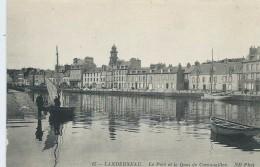 29,Finistère,LANDERNEAU, Le Port Et Le Quai De Cornouaille, Barques Personnages , Scan Recto-Verso - Landerneau