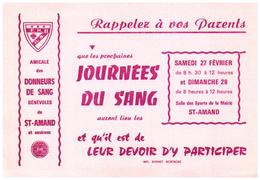 Buvard  Fédération Des Donneurs De Sang Bénévoles - Blotters