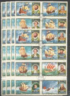 8x UMM AL QIWAIN - Famous People - F. Magelan - C. Columbus - Ships - CTO - Cristóbal Colón