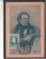 Autriche - Carte Postale De 1947 - Oblitération Spéciale Wien 1 - Bundesparteitag - Musique - Schubert - 1945-60 Covers
