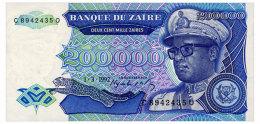 ZAIRE 200000 ZAIRES 1992 Pick 42 Unc - Zaire
