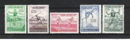 BELGIQUE (1950) - COB 827/831 *MLH - CHAMPIONNATS D'EUROPE D'ATHLETISME AU HEYZEL - Unclassified