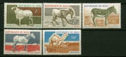 Mali ** N° 124 à 128 - Bélier, Bouc, Ane, Cheval, Dromadaire - - Mali (1959-...)