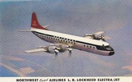 Northwest Orient Airlines Lockheed Electra Airline Issue Postcard - 1946-....: Ere Moderne
