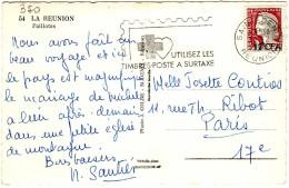 Decaris 12 F CFA  N° 350 /cp 10.2.1965 - SAINT-DENIS - Réunion (1852-1975)