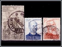 Congo 0274/76 (o)  Cinquantenaire De La Victoire Sur Les Traficants D'esclaves - Congo Belge