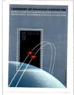 MISS164 - POLONIA 1962 , COSMONAUTI    Dentellato   *** Spazio / Geofisico - Blocchi E Foglietti