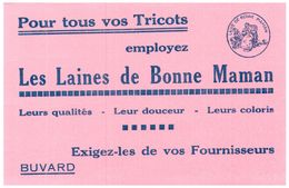 L L BM/Buvard Laine De Bonne Maman   (N= 1) - Buvards, Protège-cahiers Illustrés