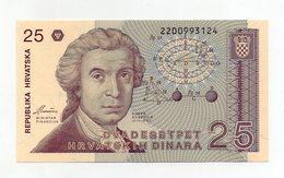 Croazia - 1991 - Banconota Da 25 Dinari - Nuova - (FDC1716) - Croatie