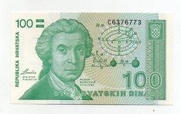 Croazia - 1991 - Banconota Da 100 Dinari - Nuova - (FDC1717) - Croatie