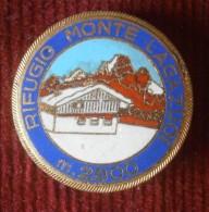 SKIING / SKI - RIFUGIO MONTE LAGAZUOI -   M2800 -  Big  Enamel Badge / Pin / Brooch - Sport Invernali