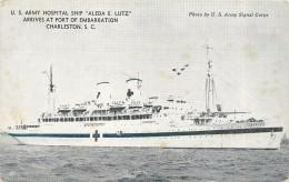 """US ARMY HOSPITAL SHIP """"Aleda E. Lutz"""" - Guerre"""