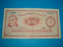 BILLET ) NATIONAL BANK / DANMARK / 100 HUNDREDE KRONER / ANNEE  1965 /  SERIE  B 1653 B  / N° 9404836 - Danemark