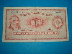 BILLET ) NATIONAL BANK / DANMARK / 100 HUNDREDE KRONER / ANNEE  1965 /  SERIE  A9653A  / N° 2843566 - Denmark