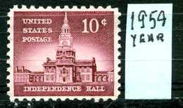 STATI  UNITI - U.S.A. - Year 1954 - Usato - Used . - Verenigde Staten