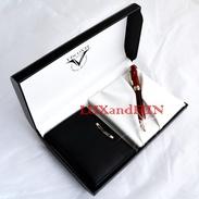 ViscontiVan Gogh Ballpoint Pen + Leather Wallet - Penna Sfera - Never Used - Penne