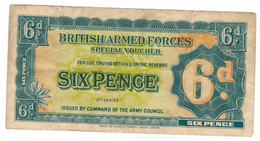 Great Britain, Military Currency, 6 Pence , VF. Free Economic Ship. To USA - …-1952 : Before Elizabeth II