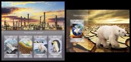 S. TOME & PRINCIPE 2014 - Global Warming - YT 4534-7 + BF744; CV = 29 € - Pollution