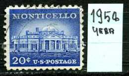 STATI  UNITI - U.S.A. - Year 1954 - Usato - Used . - United States