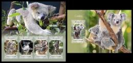 S. TOME & PRINCIPE 2014 - Koalas - YT 4546-9 + BF747; CV = 29 € - Postzegels