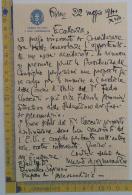 """Mario D'Annunzio - Lettera Autografa """"Camera Dei Fasci"""" Prefetto Di Alessandria - Autographes"""