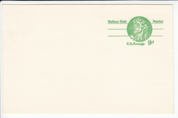 US Postal Stationery Postcard 1977 Nathan Hale UX72 Bb161110
