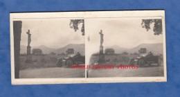 Photo Ancienne Stéréo Amateur - ALSACE / HAUTES VOSGES - Calvaire à Situer - Belle Automobile - Cars