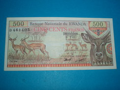 BILLET ) BANQUE NATIONALE DU RWANDA  / 500 CINQ CENT FRANCS / ANNEE / 10/01/1978 /  SERIE D  / N° 461405 - Ruanda-Urundi