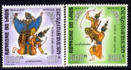 Laos P.A.  N° 56 / 57 X   Ballet Royal, Les 2 Valeurs Trace De Charnière Sinon TB - Laos
