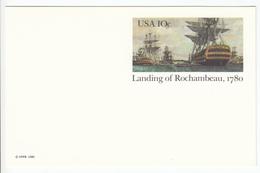 US Postal Stationery Postcard 1980 Count Rochembeau's Landing At Newport, R.I. Bicentenary UX84 Bb161110