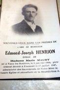 Vaux-lez-rosières Edmond Joseph Henrion, Marie Maury 1904-1947 - Vaux-sur-Sûre