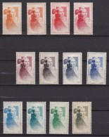 France 1949 - Vignettes Marianne De Gandon Neuf** - Série Complète De 12 Vignettes - Essais