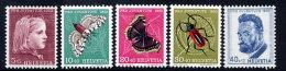SWITZERLAND 1953 Pro Juventute Set  MNH / **.  Michel 588-92 - Unused Stamps