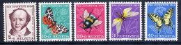 SWITZERLAND 1954 Pro Juventute Set  MNH / **.  Michel 602-06 - Pro Juventute