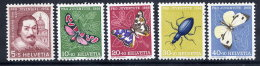 SWITZERLAND 1956 Pro Juventute Set MNH / **.  Michel 632-36 - Switzerland
