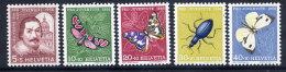 SWITZERLAND 1956 Pro Juventute Set MNH / **.  Michel 632-36 - Unused Stamps