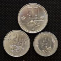 Laos 10, 20, 50 Att , 1980 , Km22; 23; 24, 3PCS, UNC, Asian Coin - Laos