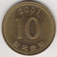 @Y@    Zuid Korea   10 Won 2001            (3889) - Coreal Del Sur